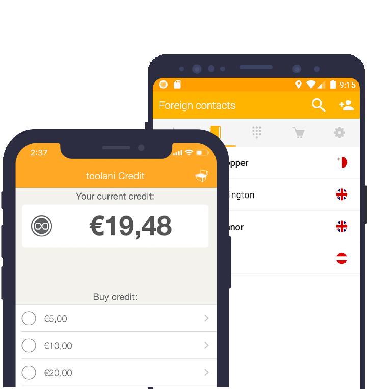 Die toolani App für Anrufe ins Ausland gibt es kostenlos für Android & iOS