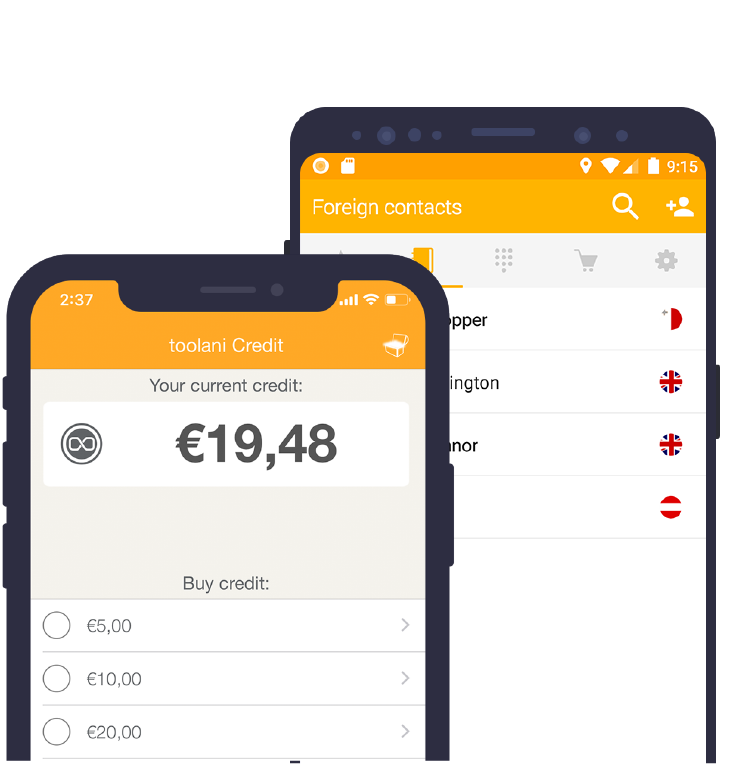 toolani app Billig ins Ausland telefonieren iOS & Android